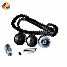 Official DOIT 1set Plastic Wheel Track with 2 Bearing Wheel+1 Driving Wheel+1 coupling + 1 Track for Tank Chassis