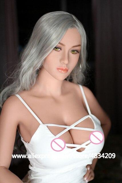 Knetch 165 cm muñeca sexual realista de calidad superior pechos grandes adultos muñecas amor realista Vagina Anal silicona Real muñeca de sexo