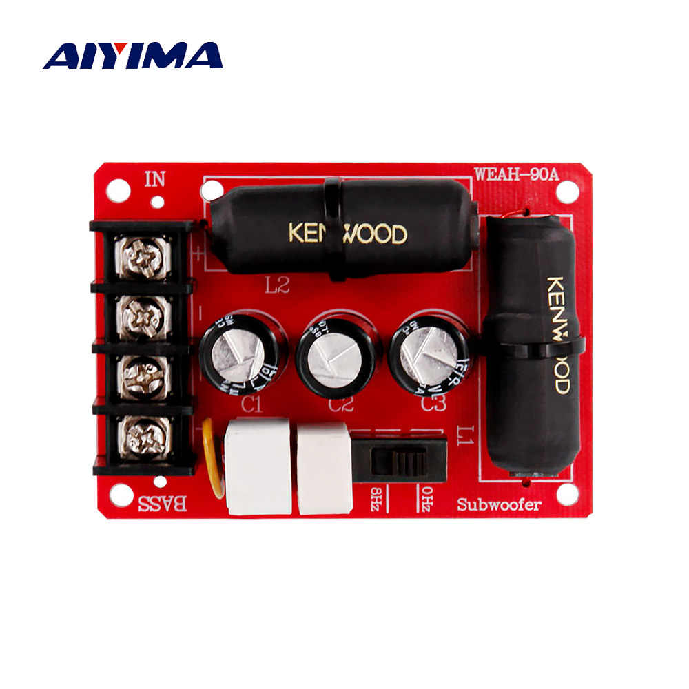 Aiyima Crossover Filter 90A Hi Fi Subwoofer Crossover 200 W untuk Bass Subwoofer Home Theater Sistem Speaker Profesional