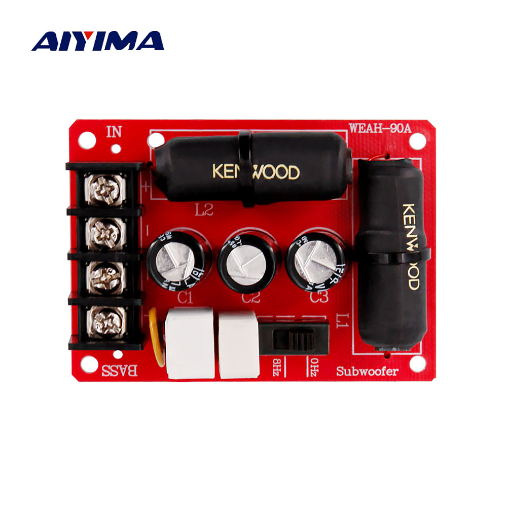 AIYIMA Speaker Crossover Filter 90A HiFi Subwoofer Crossover 200W For Bass Subwoofer Home Theater Speaker System Professional