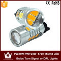 Guang Dian Luzes DRL Canbus do carro levou luz por sua vez sinal de luz samsung 5730 chip de 7.5 w 9 ~ 16 v 15smd pwy24w pw24w 10 pcs 30 pcs 50 pcs