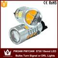 Guang Dian car led light turn signal light DRL Lights Canbus Samsung 5730 chip 7.5W 9~16V 15smd PW24W PWY24W 10PCS 30PCS 50PCS