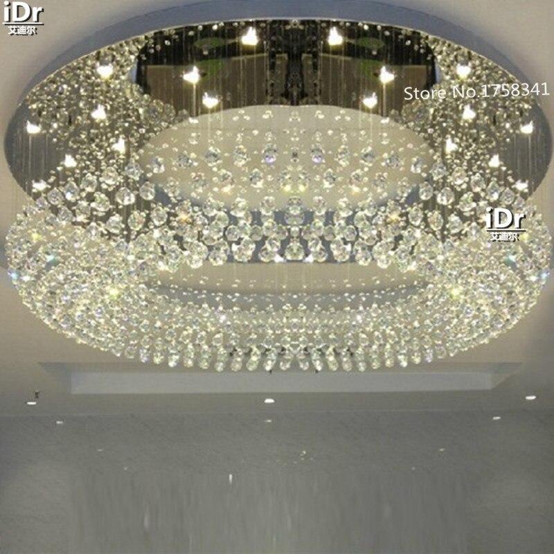 Modern flush mount moderno lustres de cristal de iluminação quarto luz Dia600xH300mm atmosfera Upscale atmosfera Upscale