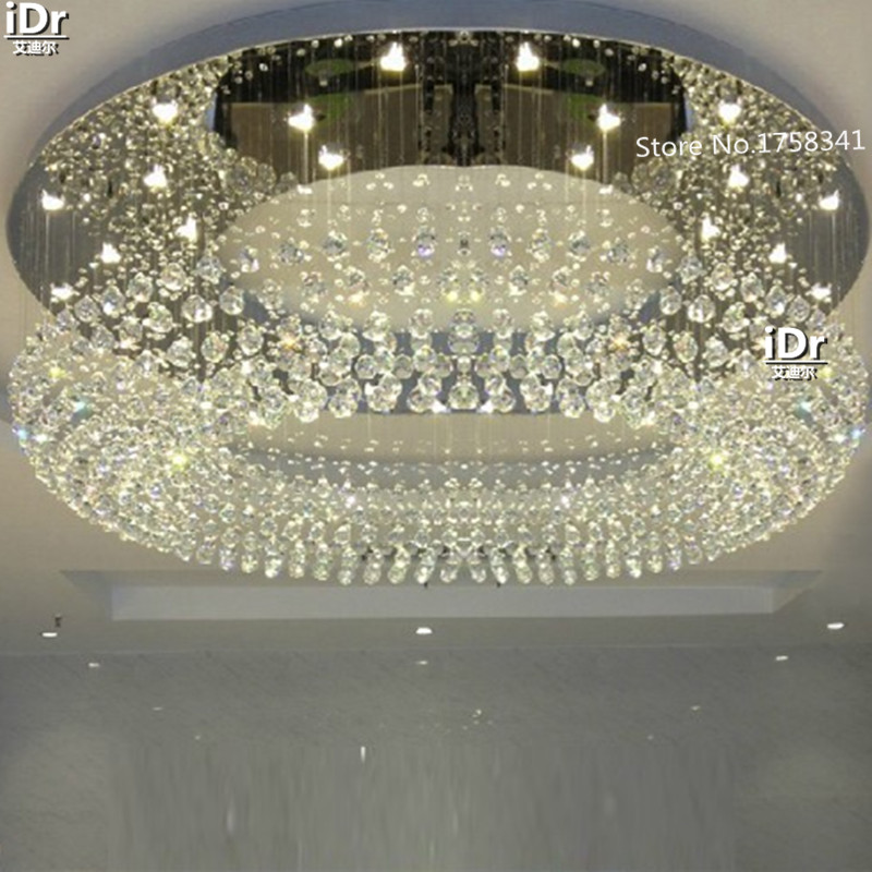 online retailer 2af82 7e6a9 US $349.0 50% OFF|modern flush mount modern crystal lighting chandeliers  room light Dia600xH300mm Upscale atmosphere Upscale atmosphere-in  Chandeliers ...
