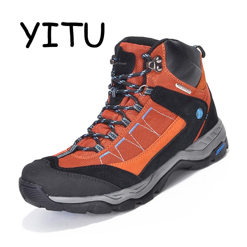 YITU En Plein Air Hommes Randonnée Bottes Étanche Respirant Trekking Randonnée Chaussures Femme Montagne Escalade Chasse Bottes Sport Sneakers