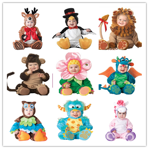 Fleece baby Romper Set Baby Boys Girls rompers Jumpsuits Overalls 2016 Winter Animal Cosplay Shapes Halloween Christmas Costume cotton baby rompers set newborn clothes baby clothing boys girls cartoon jumpsuits long sleeve overalls coveralls autumn winter