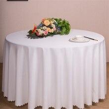 Poliéster mesa cloth15colours 16 tamaño Redondo/Square hotel mantel cubierta de tabla del banquete de boda de navidad Textiles Para El Hogar