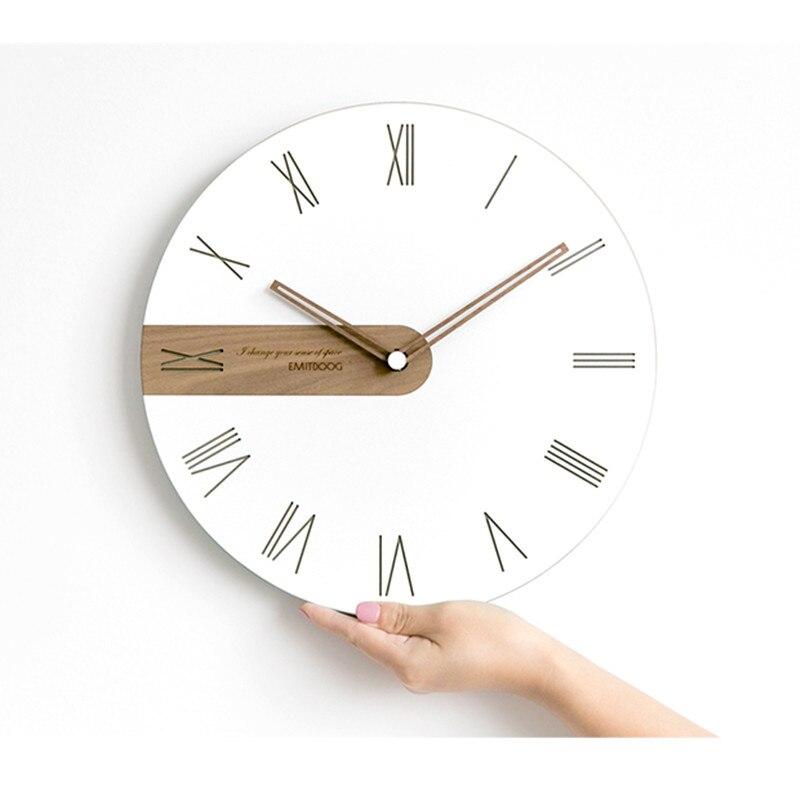 Moderna Semplice Nordic Leggero e di Lusso Orologio Artisti usano orologi di legno Creativo orologi di moda - 2