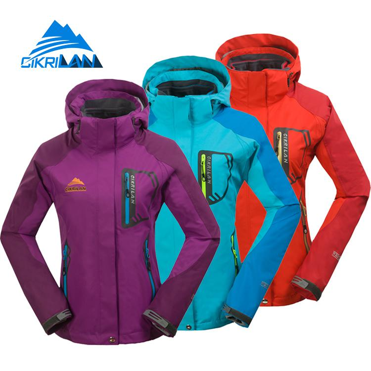 Winter 2in1 Womens Windbreaker Sport Coats Hiking Camping Outdoor Jacket Women Water Resistant Climbing Fishing Skiing Jackets