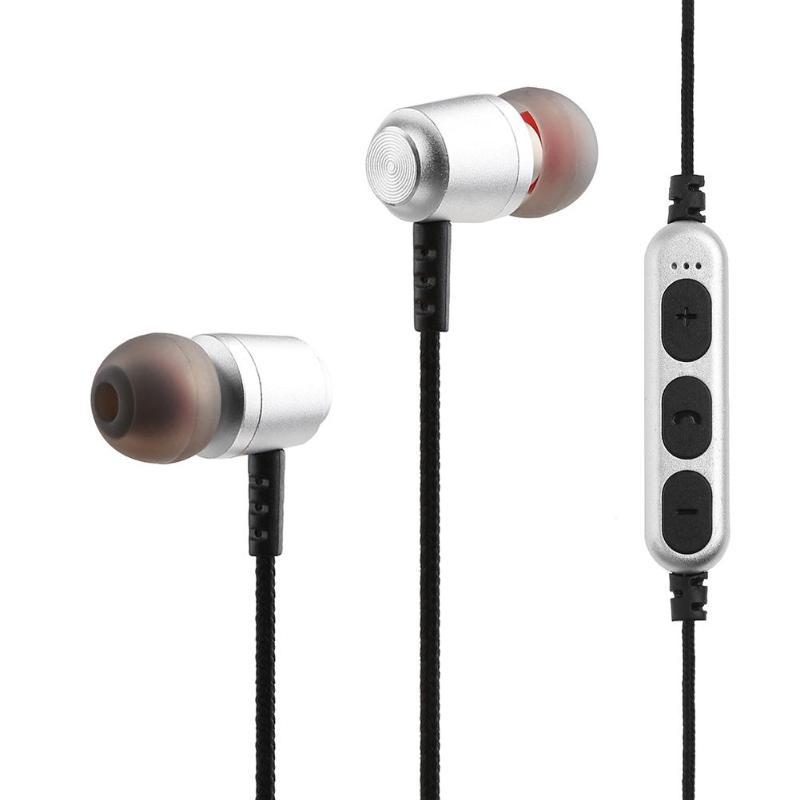 MS-T15 Wireless Bluetooth Sport Earphones Metal Magnetic Earphones Stereo Earbuds with Microphone Support TF Card