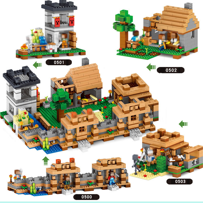 Minecraft Figures Blocks Toys Model Neverland Ranch Building Blocks Minecrafted Plastic Compatible Gift Toys For Children #E minecrafted building blocks toys bricks figures compatible legos minecraft friends city toys birthday gift for kids gift toys