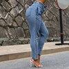 High Waist Jeans Women Streetwear Bandage Denim Plus Size Jeans Femme Pencil Pants Skinny Jeans Woman 1