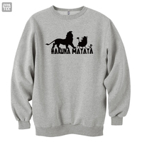 The Lion King Simba Hakuna Matata funny cute men's 's top high quality sweatshirts warm clothes winter autumn