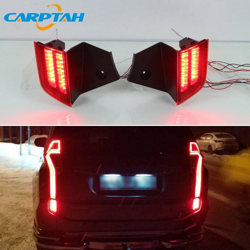 2PCS LED Rear Fog Lamp For Mitsubishi Montero Sport Pajero 2016 2017 2018 Car LED Bumper Light Brake Light Reflector