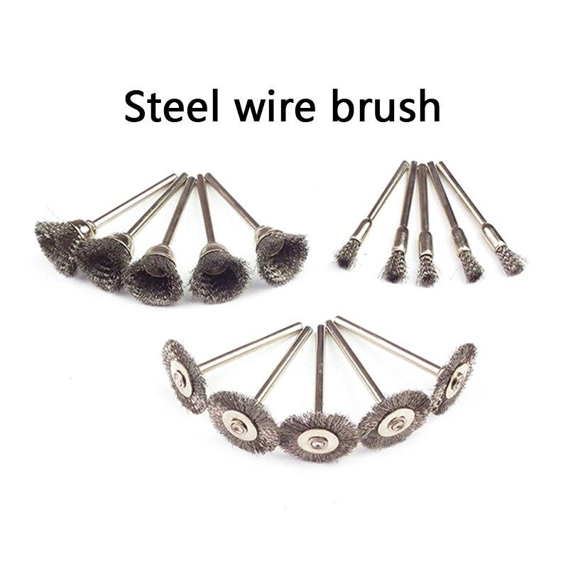 30 stuks Dremel roterende staaldraadborstelwielen set met 1/8 - Schurende gereedschappen - Foto 2