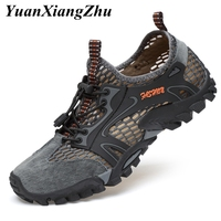 2019 Men Casual Shoes Outdoor Hiking Shoes Man Sport Running Shoes Men Sneakers Breathable Mesh Climbing Footwear Sport Trainers