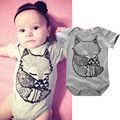 Newborn Infant Baby Boys Girls Fox Bodysuit Jumpsuit One-pieces Outfits Summer Short Sleeve Baby Body Clothes 0-24M