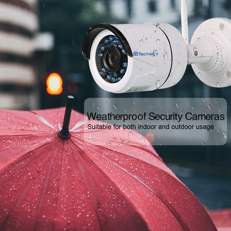 Techage 4CH 1080P Wireless NVR CCTV System Audio Record 2MP Wasserdichte Outdoor WIFI CCTV Kamera System Video Überwachung Kit