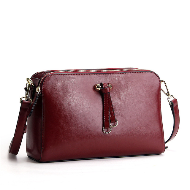 90ec4b674fb8 Nesitu Green blue brown red black color Small Women s Messenger Bag Women Leather  Shoulder bags