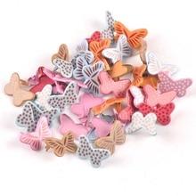 20PCs mixed Butterfly Brads Scrapbooking Embellishment Fastener Brads Metal Crafts For Diy handmade Decoration 20x13mm cp2577