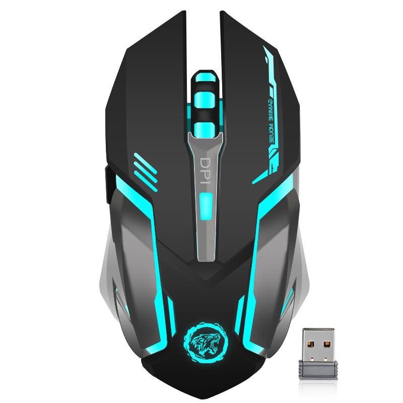 Ricaricabile Wireless Gaming Mouse 7 colori Respirazione Retroilluminazione Comfort Gamer Mouse per Computer Desktop PC Del Computer Portatile per Pro Gamer