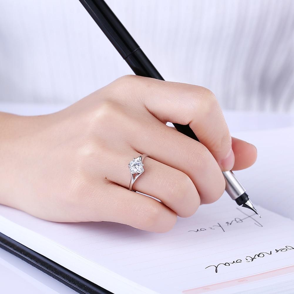 Women\'s 925 Sterling Silver Cubic Zirconia Ring Cute Romantic ...