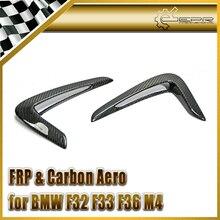 ЭПР Стайлинга Автомобилей Для BMW F32 F33 F36 M4 Углеродного Волокна Fender Side Решетка Крышка (палки от Типа) автомобильные Аксессуары