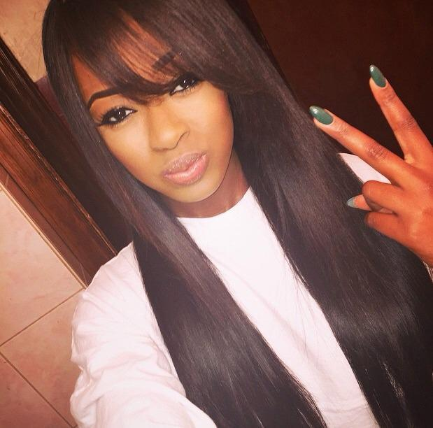Black African American Long Wigs Heat Resistant Synthetic Hair Wigs for Women Free Shipping