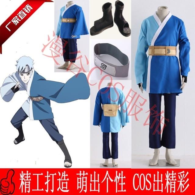 Boruto: Naruto The Movie Mitsuki Cosplay Costume Halloween Uniform  Coat+Pants+Headband+