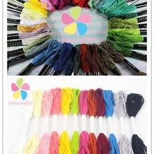 Распродажа! Lucia crafts 12 шт Случайные Смешанные цвета вышивка крестиком хлопок нить шитье, моток пряжи ремесло W0211