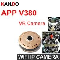 V380 960P 360 Degree Panorama Camera Wifi VR IP Camera CCTV Remote Control Security Surveillance Camera