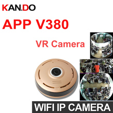 v380 960P 360 Degree Panorama Camera Wifi VR IP Camera CCTV Remote Control Security Surveillance Camera P2P Indoor VR camera