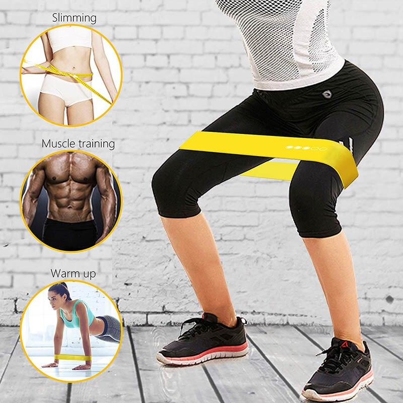 5 ədəd yoga müqavimət bantları uzanan kauçuk loop egzersiz - Fitness və bodibildinq - Fotoqrafiya 5