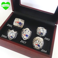 Championship Ring New England Patriots Free Shipping Replica 5 Years 2001 2003 2004 2014 2017 Ring