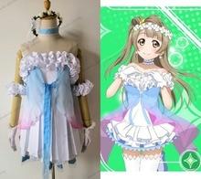 New LoveLive! Yume No Tobira Nico Yazawa/Minami Cosplay Costume Blue Yarn Fancy Dress Halloween Costumes for Women Customize все цены