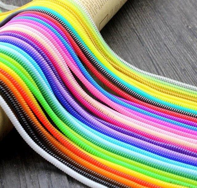 Bunte Kabel 10 teile los 60 cm bunte einfarbig tpu spirale usb ladegerät kabel