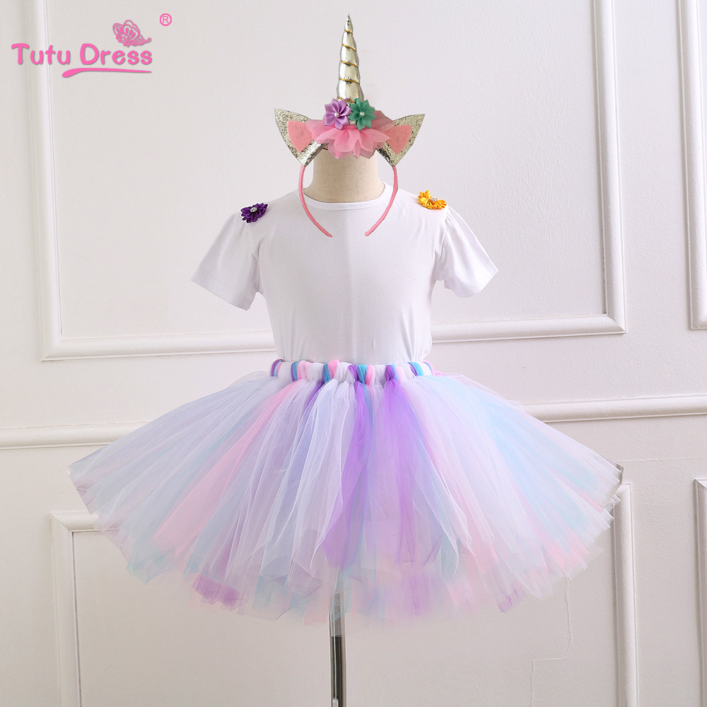 Baby Girl 1st Birthday Outfit Girls Home Outfit first baby clothing Unicorn Tutu Sets Baby Girl Shirt baby girls clothing sets birthday girl cute top tutu skirts girls fashion lady bug short sleeve t shirt and tutu skirt sets