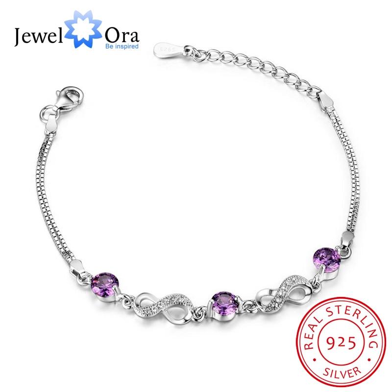 925 Sterling Silver Bracelets For Women Jewely Cubic Zircionia Bracelets & Bangles Gift For Her(JewelOra BA101896) браслет 925 h03 bracelets bangles