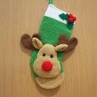 Crochet handmade Festival socks deer style model number SC0012
