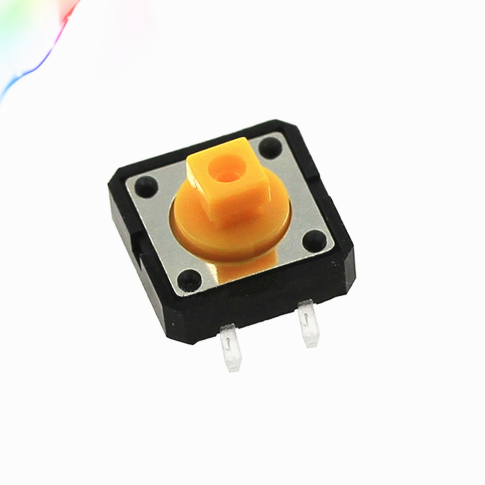 Electronic Components & Supplies 5pcs 1 Set 12x12x7.3 Tactile Push Button Switch Momentary Tact Led 5 Color 12x12x7.3mm 12*12*7.3mm Elegant In Style