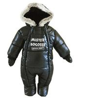 Baby Boys Rompers 2017 Winter Long Sleeve Fleece Thicken Infant Hooded Romper Baby Clothes Kids Keep