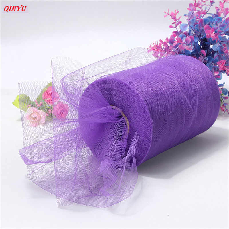 ... Tulle Roll 15cmx22m Tutu Fabric Spool Diy Party Birthday Gift Wrap Wedding Decoration Party Favors Supplies ...