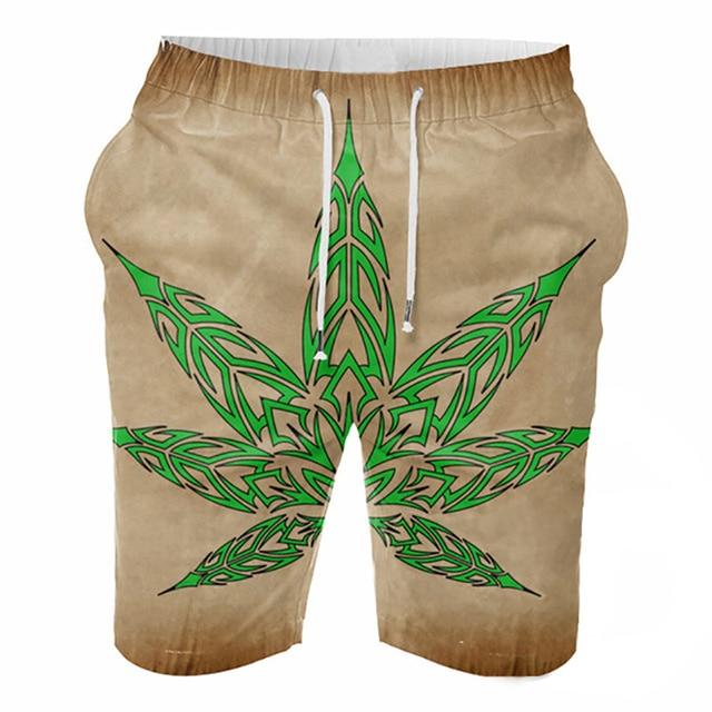 97fedde77b Playa del verano de Impresión 3D Estilo Moda Pantalones Cortos Ocasionales  de Los Hombres Hasta La