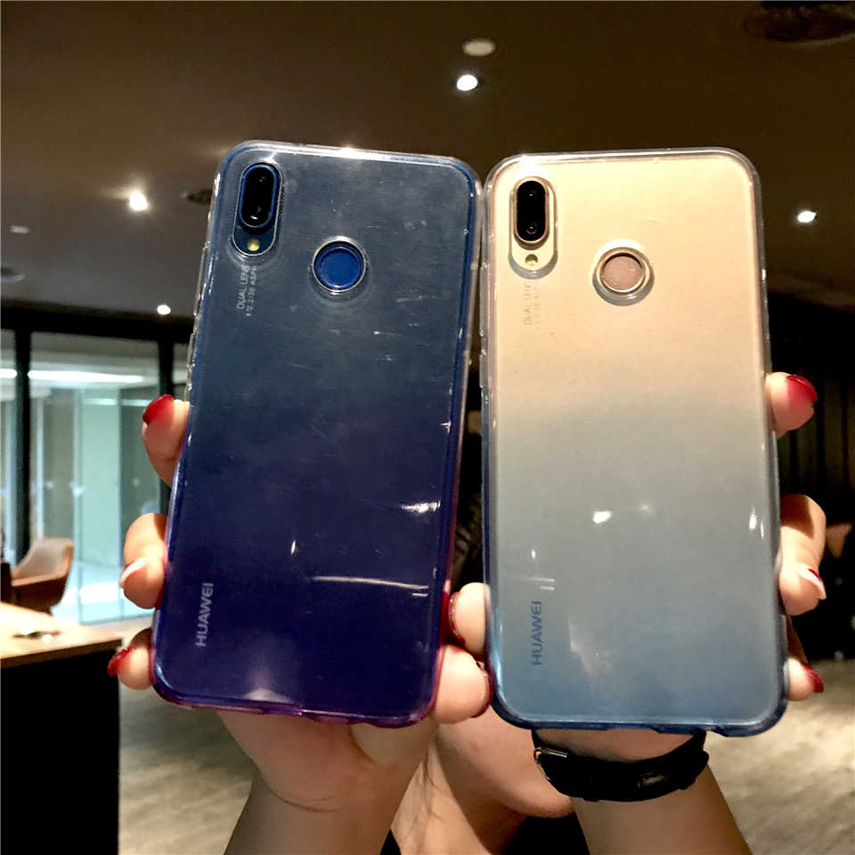Colorful Rainbow TPU Phone Case For Huawei P20 Lite P10 Mate 20 Pro 10 9 Nova 3 4 Honor 8X 7X 6X 7A 6A 5A 7C 8 Silicone Cover