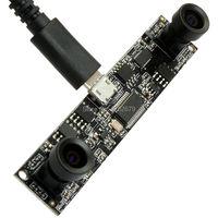 Darmowa wysyłka 1.0 megapikseli MJPEG 30fps 1280*720 CMOS OV9712 Ominivision Wideo 75x15x20mm małe moduł usb Podwójnego obiektywu kamery wideo
