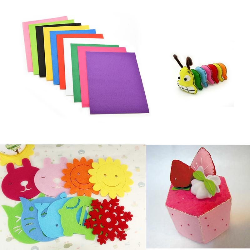 10 sheet diy crafts for kids non woven felt fabric puzzle for Felt christmas crafts for kids