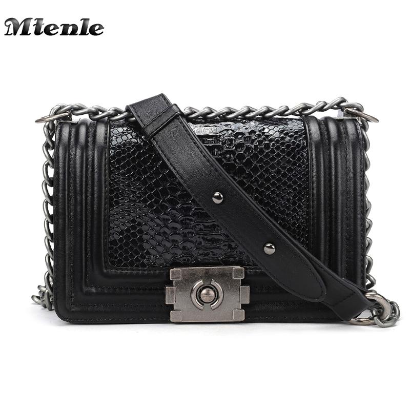 MTENLE Serpentine Woman Shoulder Bags Luxury Leather Handbags Famous Brand Women Bag Designer Messenger Bags Snake Sac a Main H