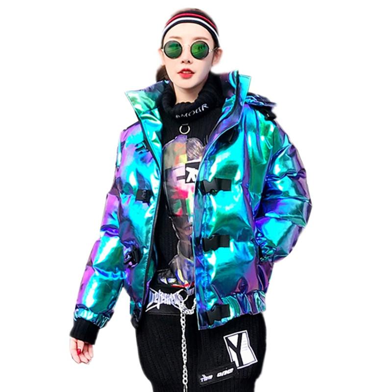 Parka Oversize À Chaud Lumineux Capuchon Hip Mode Épais 2018 Veste Survêtement Surface Dames Hiver Z343 Manches Longues Femelle Picture De Color Hop Nouveau q0fpFwO