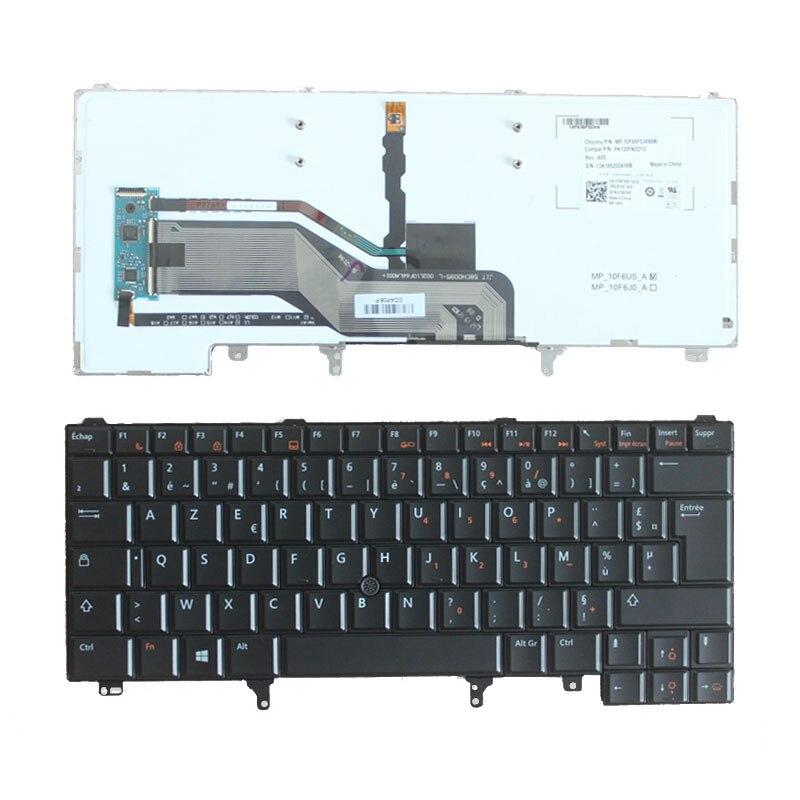 新しいフランスの Dell Latitude E5420 E5430 E6220 E6230 E6320 E6330 FR キーボードとバックライト/ポインター  グループ上の パソコン & オフィス からの 交換用キーボード の中 1