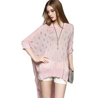 Trendy Sweater Slim Paris Print Long Pullover Women Knitwear Casual Batwing Sleeve Pullover 2 Colors Ladies